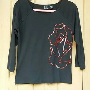 INC Sequined Top